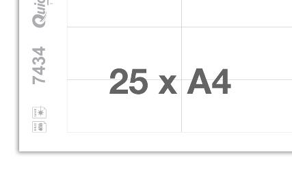 Druckbogen blanko 7434