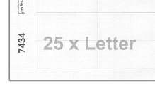Printing sheets blank white 7434