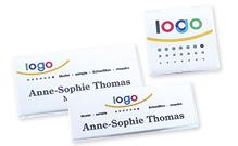 Acrylic glass badges
