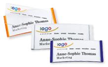 Pre-printed namebadges