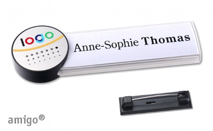 "Name badge amigo® ""alu-print"""