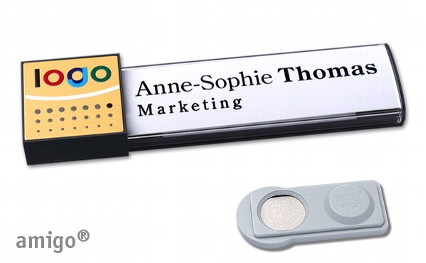 """Name badge amigo® """"alu-print"""""""