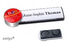 "Name badge amigo® ""doming"""