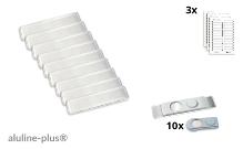 10 name badges - aluline-plus® 25