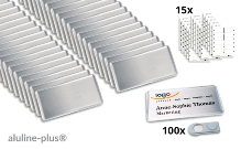 100 name badges - aluline-plus® 38