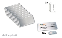 10 name badges - aluline-plus® 38