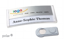 "Name badge polar® 30 ""alu-print"""