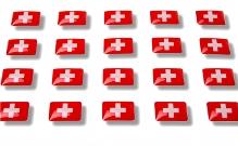 """Flag stickers """"Switzerland"""""""