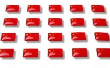 "Flag stickers ""China"""
