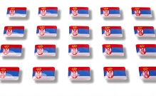 "Flag stickers ""Serbia"""