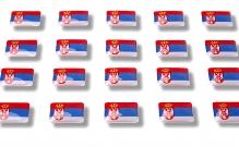 """Flaggensticker """"Serbien"""""""