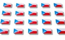 "Flag stickers ""Czech Republic"""