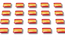 "Flag stickers ""Spain"""