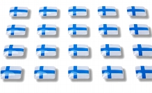 """Flag stickers """"Finland"""""""