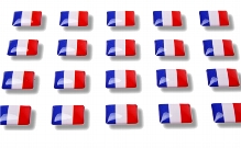 "Flag stickers ""France"""