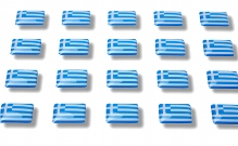 "Flag stickers ""Greece"""