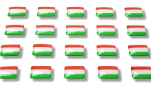 """Flag stickers """"Hungary"""""""