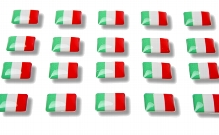 "Flag stickers ""Italy"""