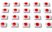 "Flag stickers ""Japan"""