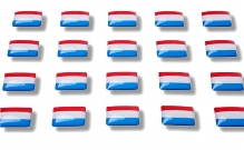 "Flag stickers ""Netherlands"""