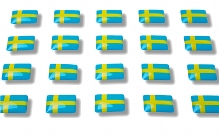 "Flag stickers ""Sweden"""