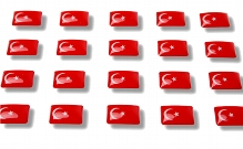 "Flag stickers ""Turkey"""