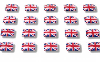 "Flag stickers ""Great Britain"""